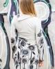 Φόρεμα Μακρυμάνικο Εμπριμέ Fst45
