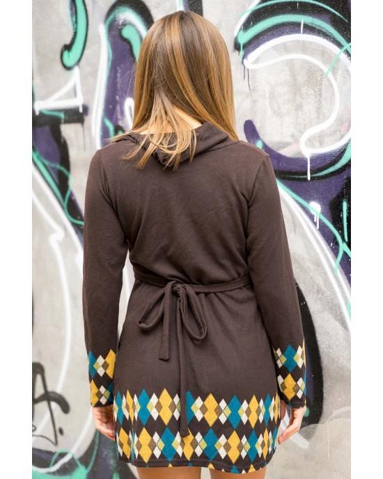 Φόρεμα Μακρυμάνικο Εμπριμέ Fst48