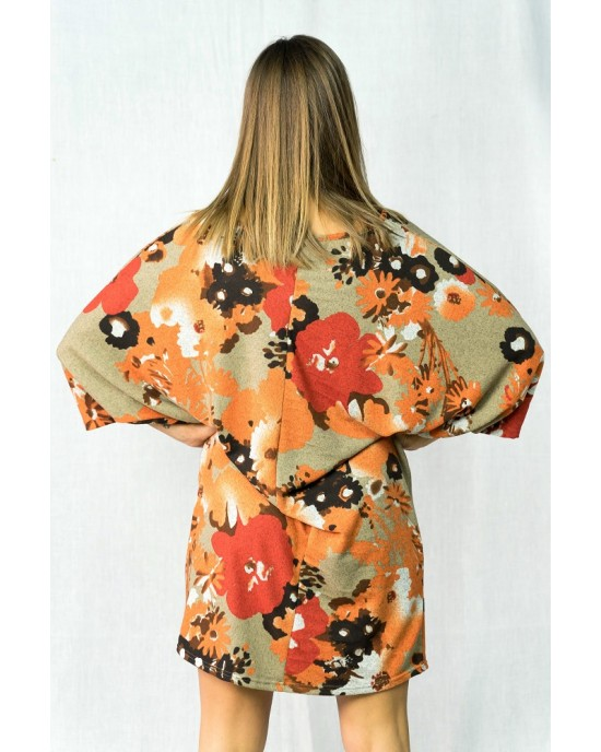 Φόρεμα Loose Fit Floral Fst72