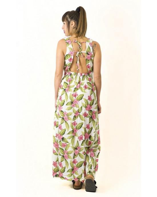 Φόρεμα Maxi Floral Λευκό