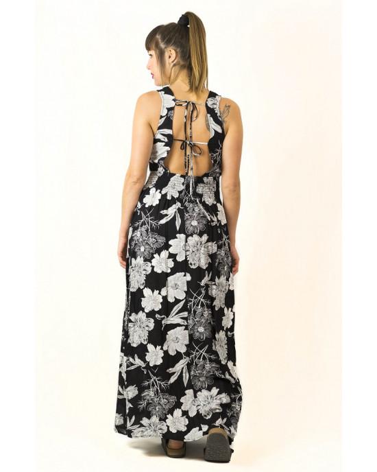 Φόρεμα Maxi Floral Μαύρο