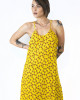 Midi Φόρεμα Εμπριμέ Κίτρινο