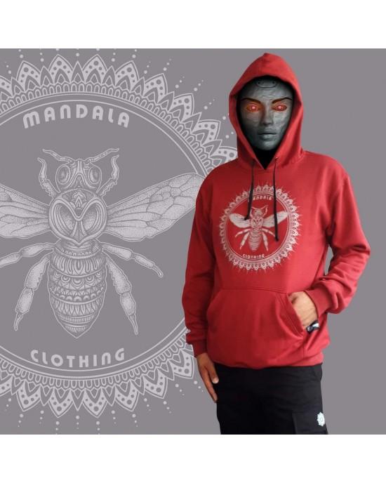 Mandala Φούτερ - Hoodies-Fly-Maroon