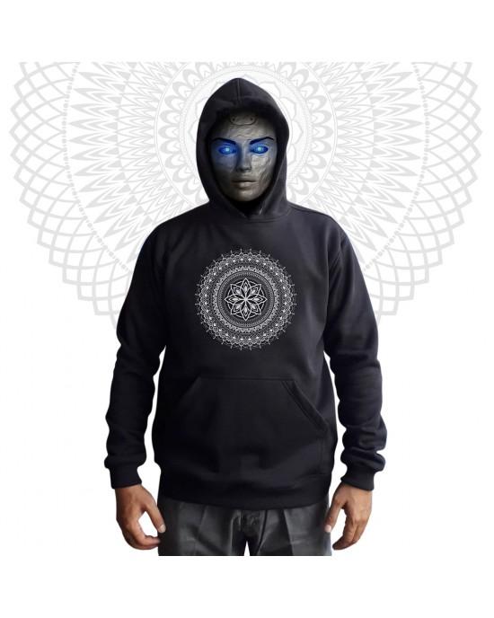 Mandala Φούτερ - Hoodies-Flower-Black