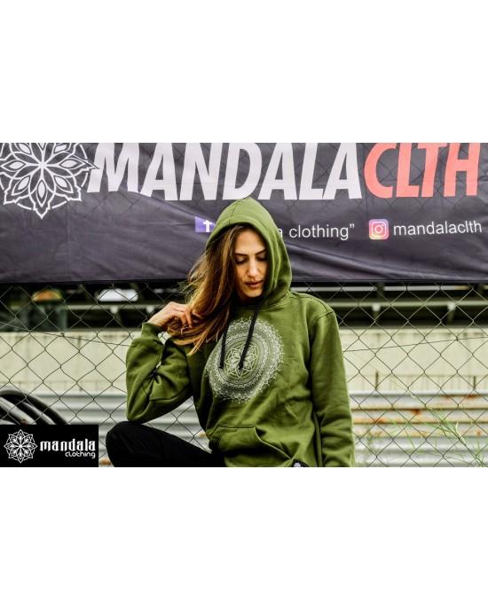 Mandala Φούτερ - Hoodies-Flower-Khaki