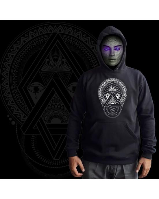 Mandala Φούτερ - Hoodies-Darkface-Black