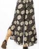 Παντελόνα Καμπάνα Floral Μαύρη