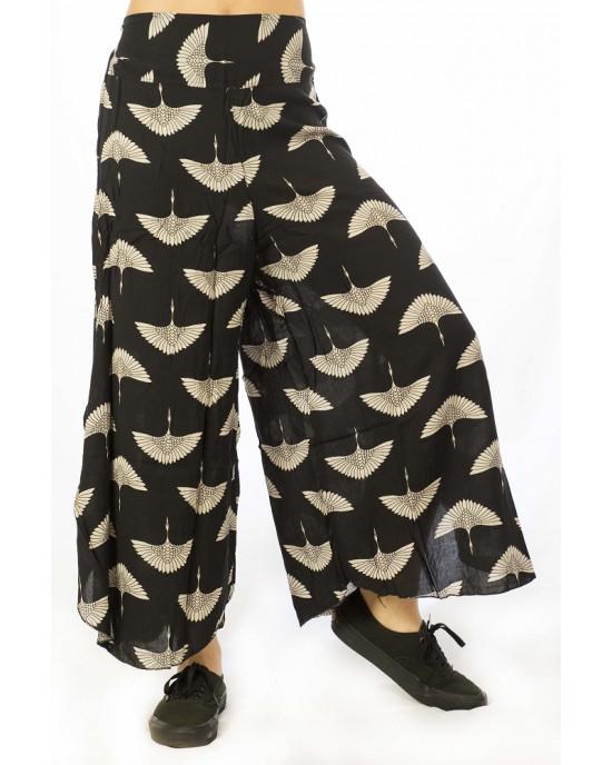 Παντελόνα Καμπάνα Φτερά Μαύρη