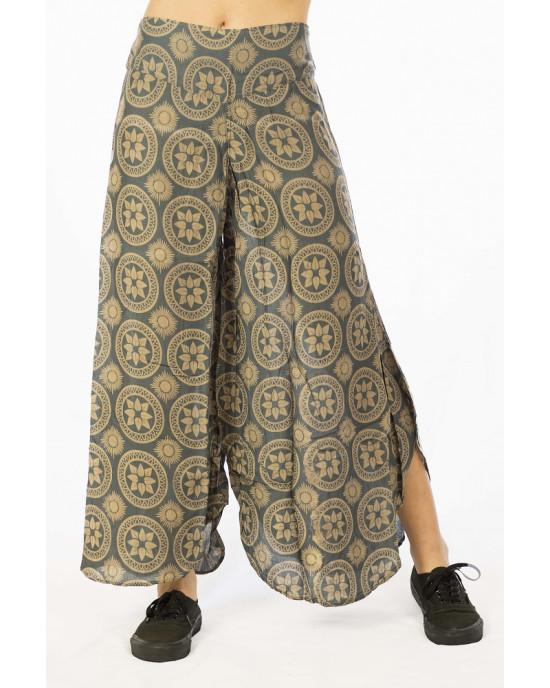 Παντελόνα Καμπάνα Mandala Γκρι
