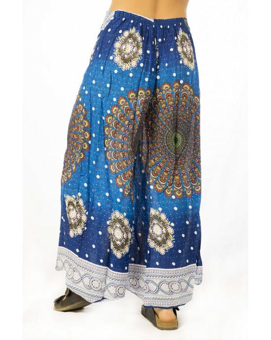 Παντελόνα Καμπάνα Mandala Μπλε