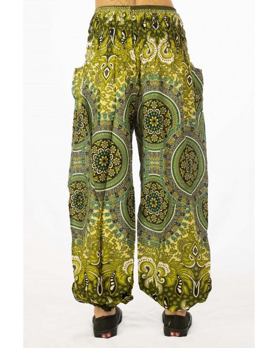 Παντελόνα Mandala Λαχανί