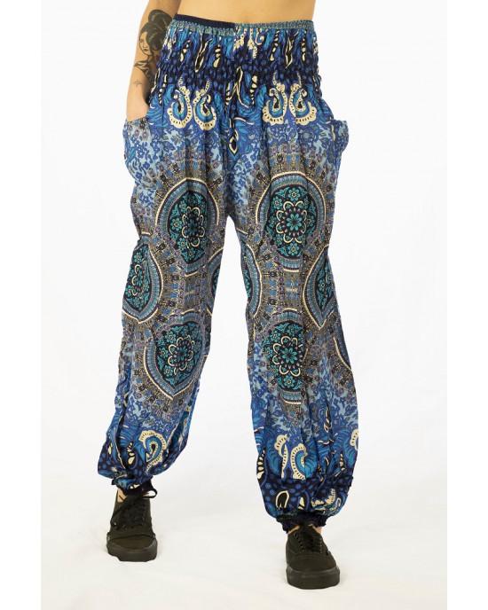 Παντελόνα Mandala Μπλε