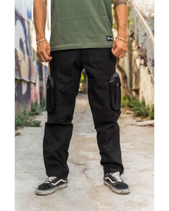 Pant Cargo Unisex Mandala Design 02 Black