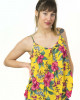 Top Women Floral Κίτρινο