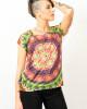 Tshirt Women Mandala Flower