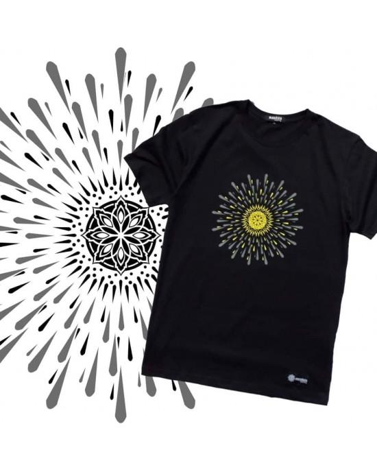 TShirt Mandala Sun Black