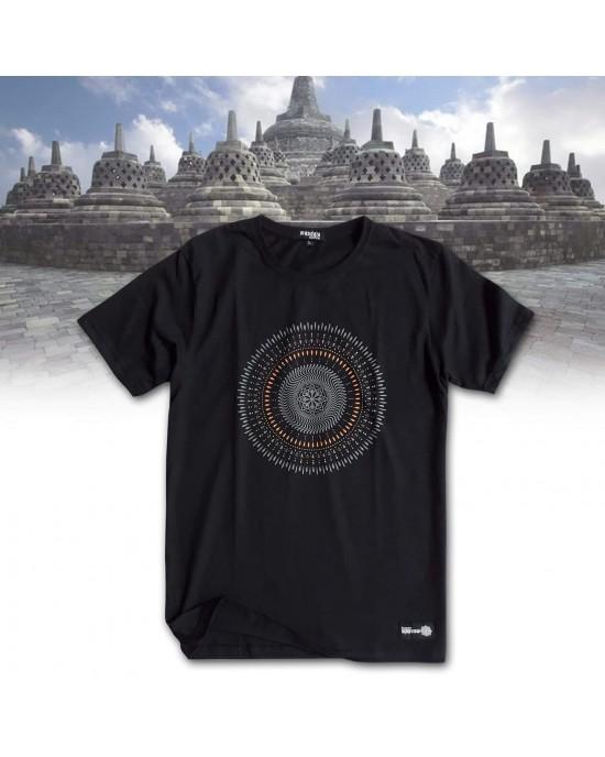 TShirt Mandala circle Black